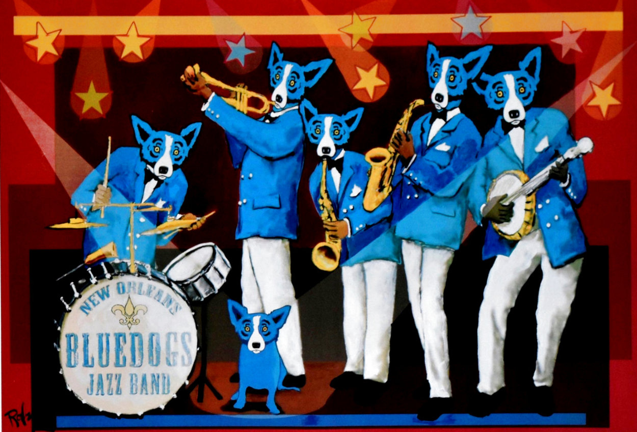 You Can't Drown the Blues Poster 2006 HS Limited Edition Print by Blue Dog George Rodrigue