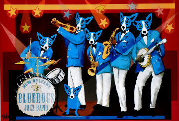 You Can't Drown the Blues Poster 2006 HS Limited Edition Print - Blue Dog George Rodrigue