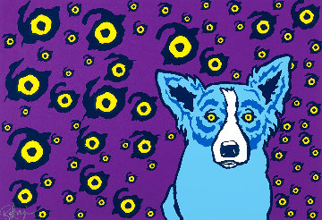 I See You, You See Me 1993 Limited Edition Print - Blue Dog George Rodrigue