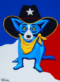 I Wanna Be a Texas Ranger 1997 Limited Edition Print - Blue Dog George Rodrigue