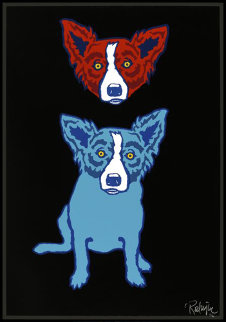 Mischief on My Mind 1992 Limited Edition Print by Blue Dog George Rodrigue