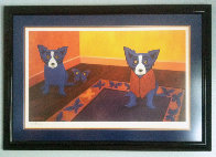 Butterflies Are Free 1996 Limited Edition Print by Blue Dog George Rodrigue - 1