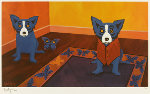 Butterflies Are Free 1996 Limited Edition Print - Blue Dog George Rodrigue