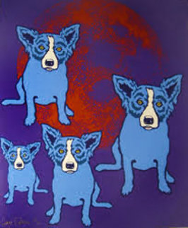 Red Moon 1991 Limited Edition Print by Blue Dog George Rodrigue