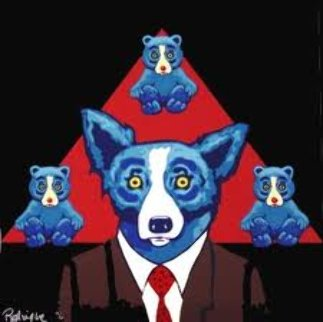 Bears a Resemblance: Black 1995 Limited Edition Print - Blue Dog George Rodrigue