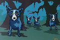 Walkin' to New Orleans 1998 Limited Edition Print - Blue Dog George Rodrigue