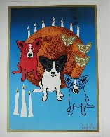 By the Light of the Moon - Split Front 1992 Limited Edition Print by Blue Dog George Rodrigue - 4