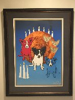 By the Light of the Moon - Split Front 1992 Limited Edition Print by Blue Dog George Rodrigue - 2