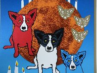 By the Light of the Moon - Split Front 1992 Limited Edition Print by Blue Dog George Rodrigue - 9