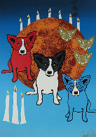 By the Light of the Moon - Split Front 1992 Limited Edition Print by Blue Dog George Rodrigue - 0