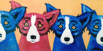 Blues Can Hide a Bad Apple 1992 Limited Edition Print by Blue Dog George Rodrigue