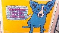 Sometimes I Feel Like a Blue Dog 1991 Limited Edition Print by Blue Dog George Rodrigue - 2