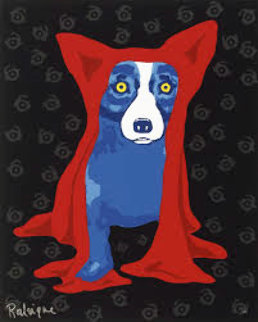 Hidin' My Blues From You 1995 Limited Edition Print by Blue Dog George Rodrigue