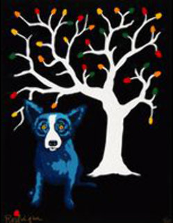Sweet Pickin's  AP 2000 39x26 Limited Edition Print by Blue Dog George Rodrigue