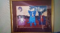 Waiting on My TV Dinner 1993 Limited Edition Print by Blue Dog George Rodrigue - 2