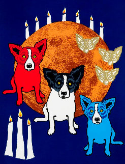 By the Light of the Moon 1992 Limited Edition Print - Blue Dog George Rodrigue