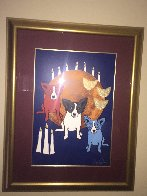 By the Light of the Moon 1992 Limited Edition Print by Blue Dog George Rodrigue - 1