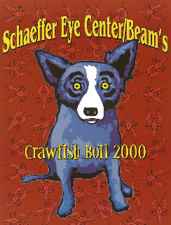 Schaeffer Eye Center/Beams Crawfish Boil 2000 HS Limited Edition Print by Blue Dog George Rodrigue