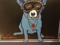 Waiting For Rex AP 1993 Limited Edition Print by Blue Dog George Rodrigue - 1