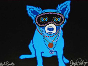 Waiting For Rex AP 1993 Limited Edition Print by Blue Dog George Rodrigue