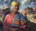 Man of Many Seasons 1982 44x32 Original Painting - Alfredo Rodriguez