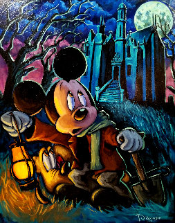 Caretaker Mickey 35x29 Original Painting - Tim Rogerson