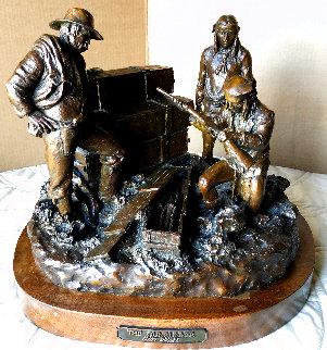 Gunrunner Bronze Sculpture 1996 18 in Sculpture - Scott Rogers