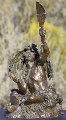 Crow Shaman Bronze Sculpture Sculpture - Scott Rogers