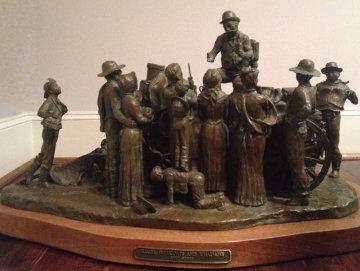 Elixirs, Petticoats And Whatnots Bronze Sculpture 18 in Sculpture - Scott Rogers