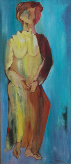 Esther 1995 57x27 Original Painting by Alfred Rogoway