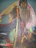 Fisherman 1968 30x20 Original Painting by Alfred Rogoway - 1