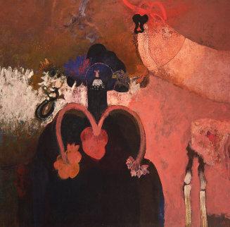 De Los Rituales Del Pueblo 2008 66x65 Original Painting - Elmar Rene Rojas