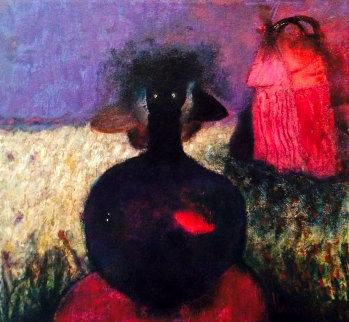 De Los Cañales 2010 12x12 Original Painting - Elmar Rene Rojas