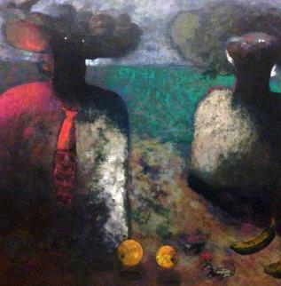 Naturaleza Y Grandes Senores 1995 29x29 Original Painting - Elmar Rene Rojas