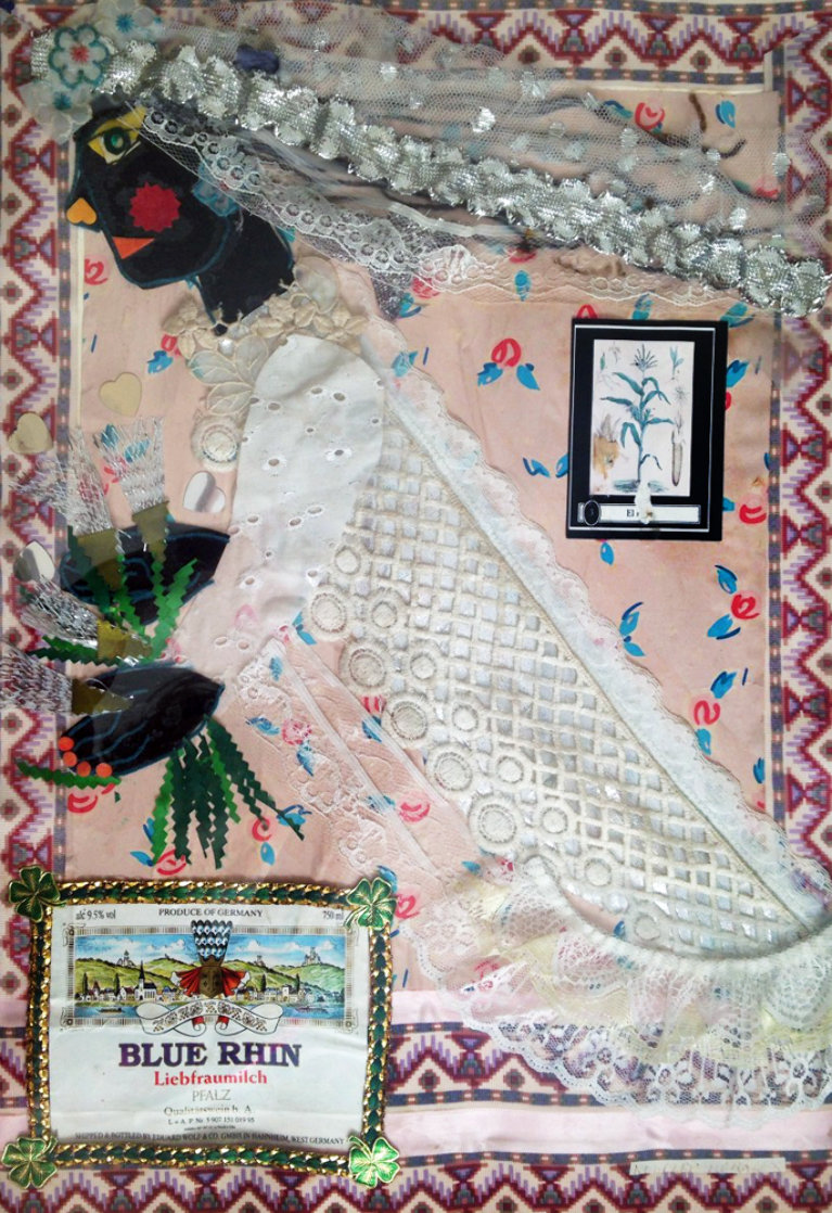Untitled Bride Collage 1980 20x13 Works on Paper (not prints) by Rodolfo  Morales
