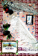 Untitled Bride Collage 1980 20x14 Works on Paper (not prints) by Rodolfo  Morales - 0