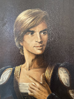 Untitled (Portrait of Rudolf Nureyev) 1970 24x18 Original Painting - Ron Rophar