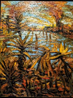 Sinking Idols 2003 Original Painting - Michael Roque Collins
