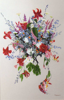 First Bloom Watercolor 1991 48x34 Watercolor by Christine Rosamond
