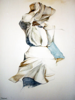 Windblown 1977 40x30 Original Painting - Christine Rosamond