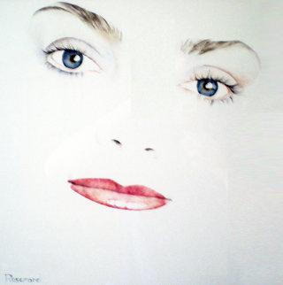 Pamela Watercolor 1991 22x20 Original Painting - Christine Rosamond