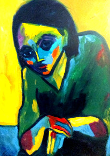 Just My Imagination 1998 40x30 Original Painting - Sarena Rosenfeld