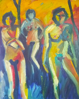 October Heat Wave 1991 30x24 Original Painting - Sarena Rosenfeld