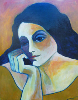 Very Thought of You 2002 60x48 Original Painting - Sarena Rosenfeld