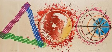 Triangle Skid (The Assassination of President Kennedy) 1975 36x74 Super Huge Original Painting - James Rosenquist