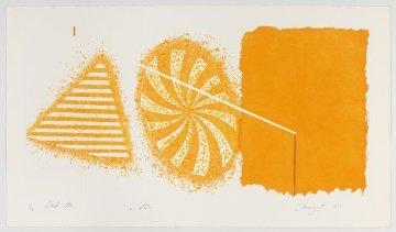 Black Star (Orange 2nd State) 1978 Limited Edition Print by James Rosenquist