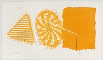 Black Star (Orange 2nd State) 1978 Limited Edition Print - James Rosenquist