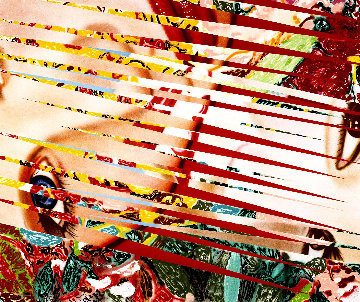 Flowers and Females 1986 60X75 Limited Edition Print by James Rosenquist