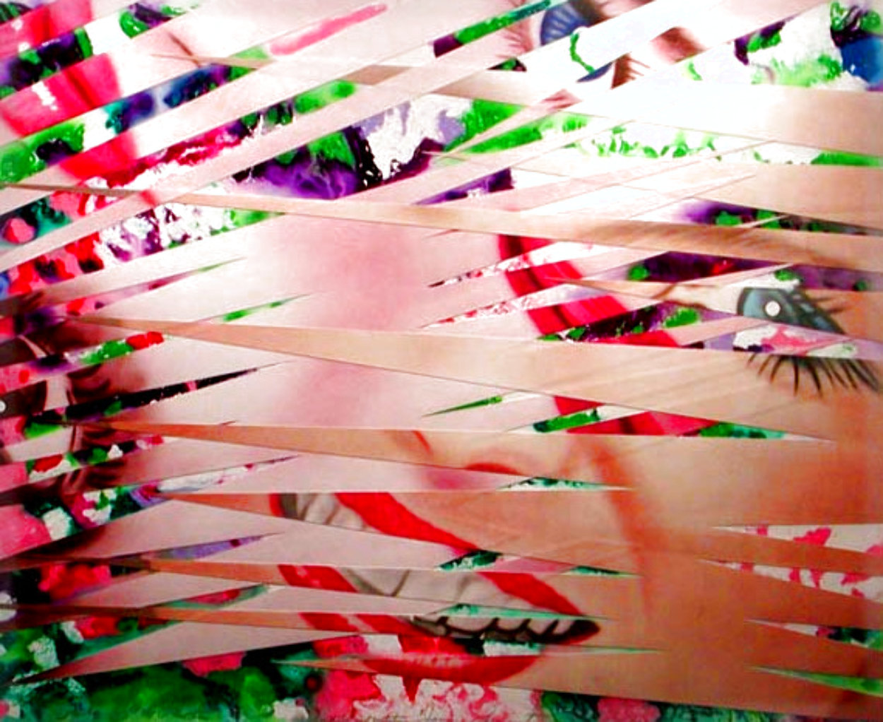 Crosshatch and Mutation 1986 42x55 Huge Works on Paper (not prints) by James Rosenquist