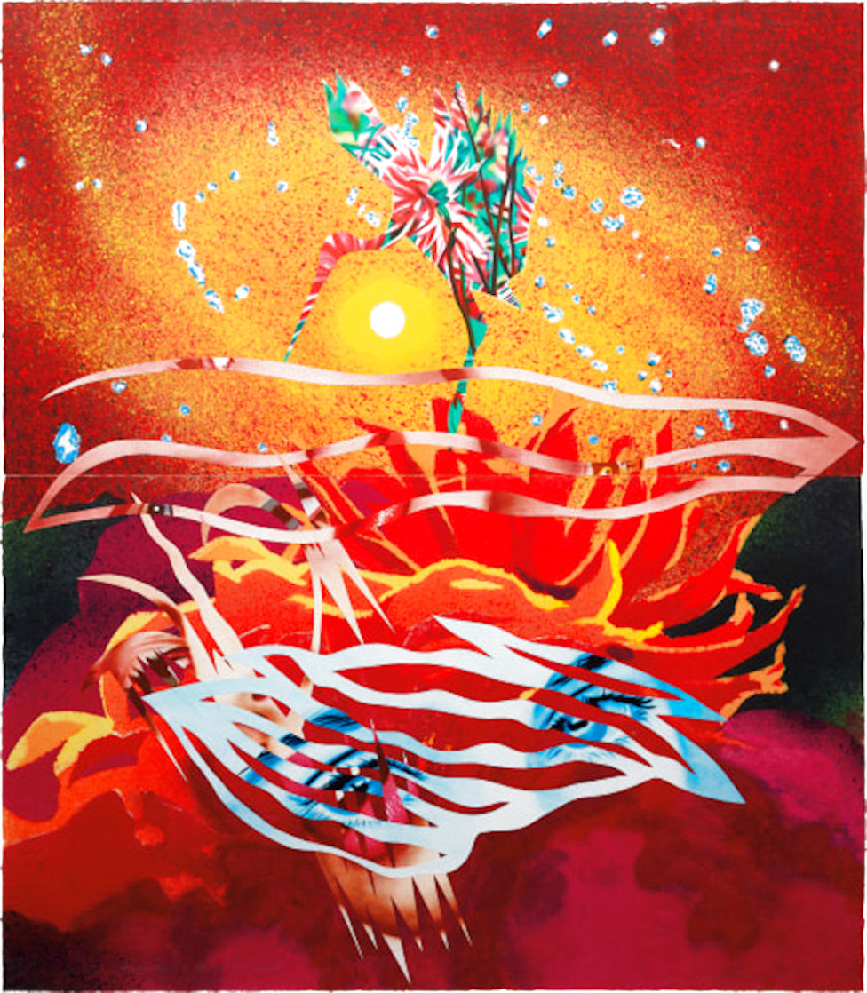Bird of Paradise Approaches the Hot Water Planet, From Welcome to the Water Planet PP 1989 Limited Edition Print by James Rosenquist